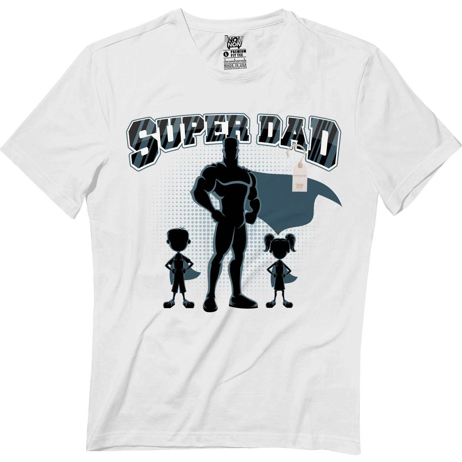 Super Dad Awsome Fathers Day Hero Gift Legend Papa Tshirt