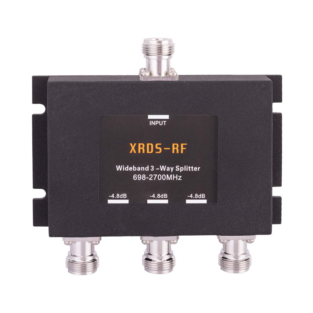Wide-Band 3 Way Splitter-4.8dB N Type Female-50 Ohm by XRDS-RF (NOT for TV)