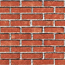 Mediterranean 3D three dimensional white bricks, wallpaper, non-woven fabrics, living room, bedroom, clothing store, background wall, brick wallpaper,Brick red