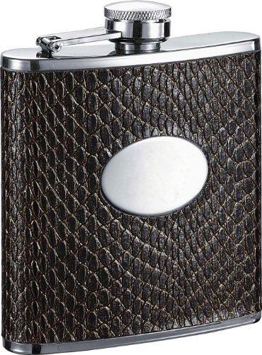 代引き手数料無料 Visol Turus Leatheretteステンレススチールヒップフラスコ Visol、6-ounce B013S279A0、ダークブラウンby Visol Turus B013S279A0, キッチンラボ:349e241c --- laikinikeliai.lt
