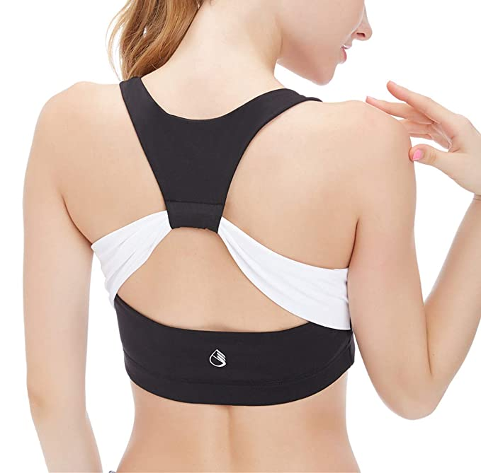 2aef243c78ce8 icyzone Women s Activewear Fitness Moving Comfortbal Racerback Sports Bras  (S