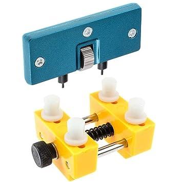 LLF Uhrengehäuseöffner, Reparatur-Entferner, Werkzeug und Entferner für Uhren, offen, verstellbarer Werkzeugöffner, Rückseite