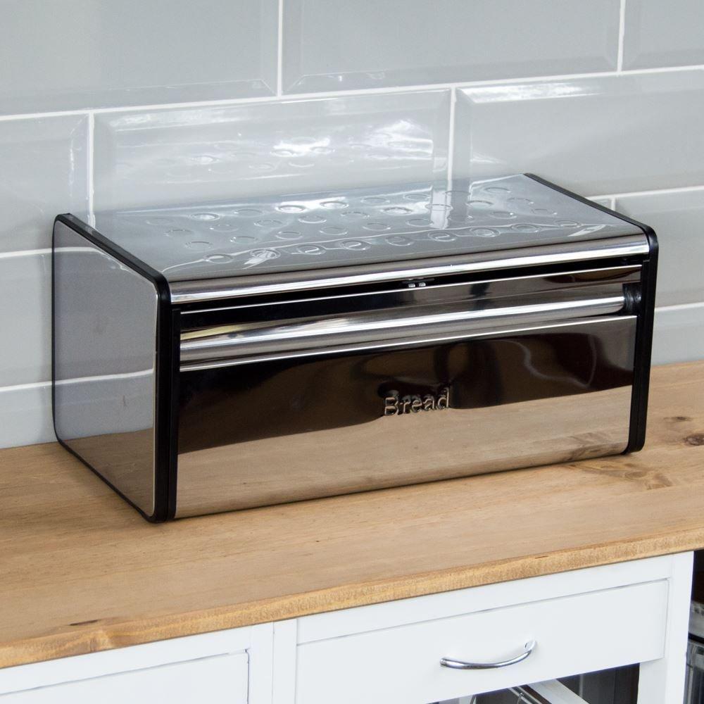 caja de almacenamiento Caja Rectangular para pan f panera Kitche rollo de acero D de basura de parte superior Kitchen Gular B/ /-nv /_ 1001006497-hp10-uk Generic dyhp-a10-code-6497-class-1/-