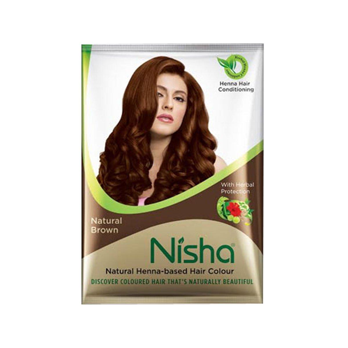Nkshoppe Nisha Hair Color Mehndi Natural Brown,40g