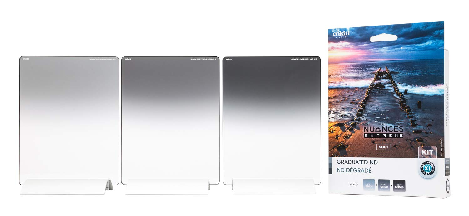 Cokin Square Filter NUANCES Extreme - Soft Kit - Includes XL (X) Series GND4 GND8, GND16 Filters by Cokin