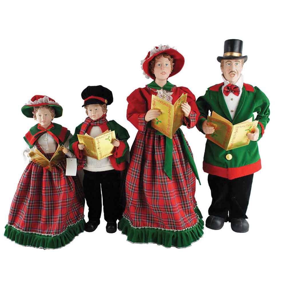Santa's Workshop Christmas Day Carolers Figurine, Set of 4, 20'' x 27''