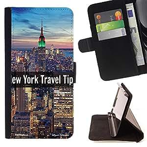 Super Marley Shop - Funda de piel cubierta de la carpeta Foilo con cierre magn¨¦tico FOR Sony Xperia Z3 Compact- New York City