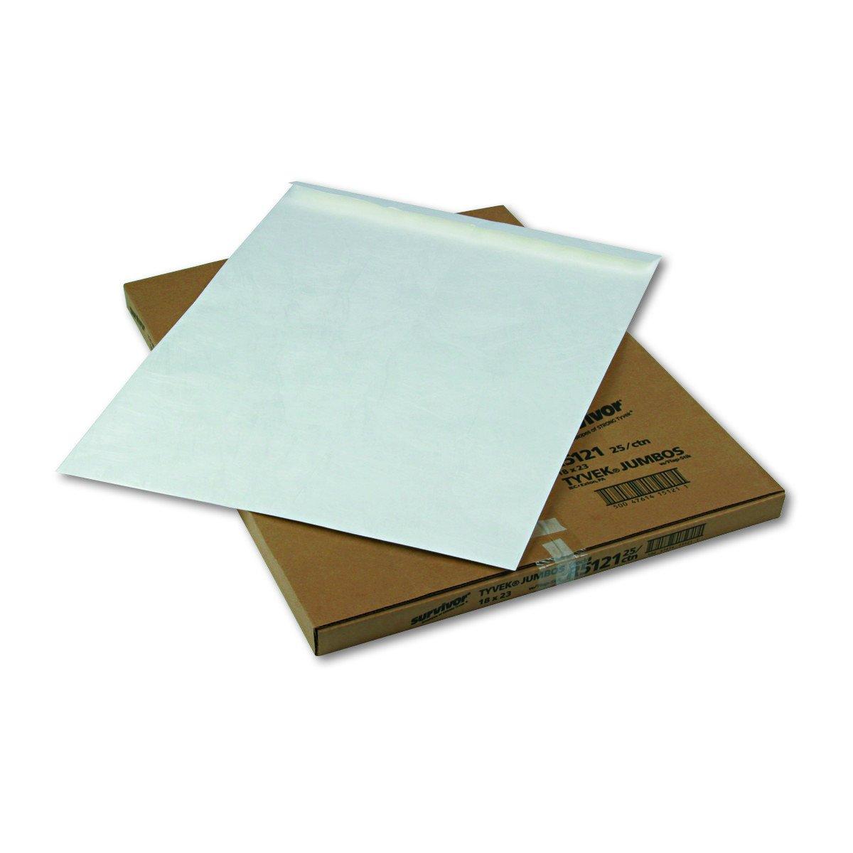 Quality Park R5121 Quality Park Tyvek Heavyweight Jumbo Envelopes, 18x23, White, 25/Box