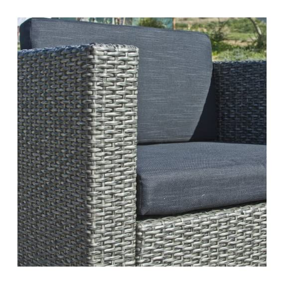 Christopher Knight Home 214136 Puerta Outdoor Wicker Sofa Set, Black - Entertain your guests outdoors while giving them Plenty of room and even a place to Set their drinks or plates Down. With the included plush Cushions, you can chat for hours in the comforts of your backyard. Includes: two (2) Club chairs, one (1) Loveseat, and one (1) table Material: Polyethylene wicker | frame material: Steel - patio-furniture, patio, conversation-sets - 618KD2BG AL. SS570  -