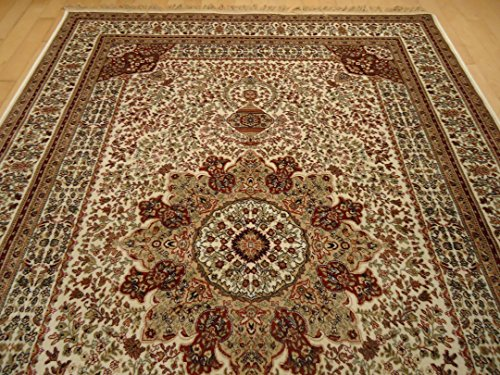 Silk Ivory Rugs Persian Tabriz Rug 7 215 10 Living Room Rugs