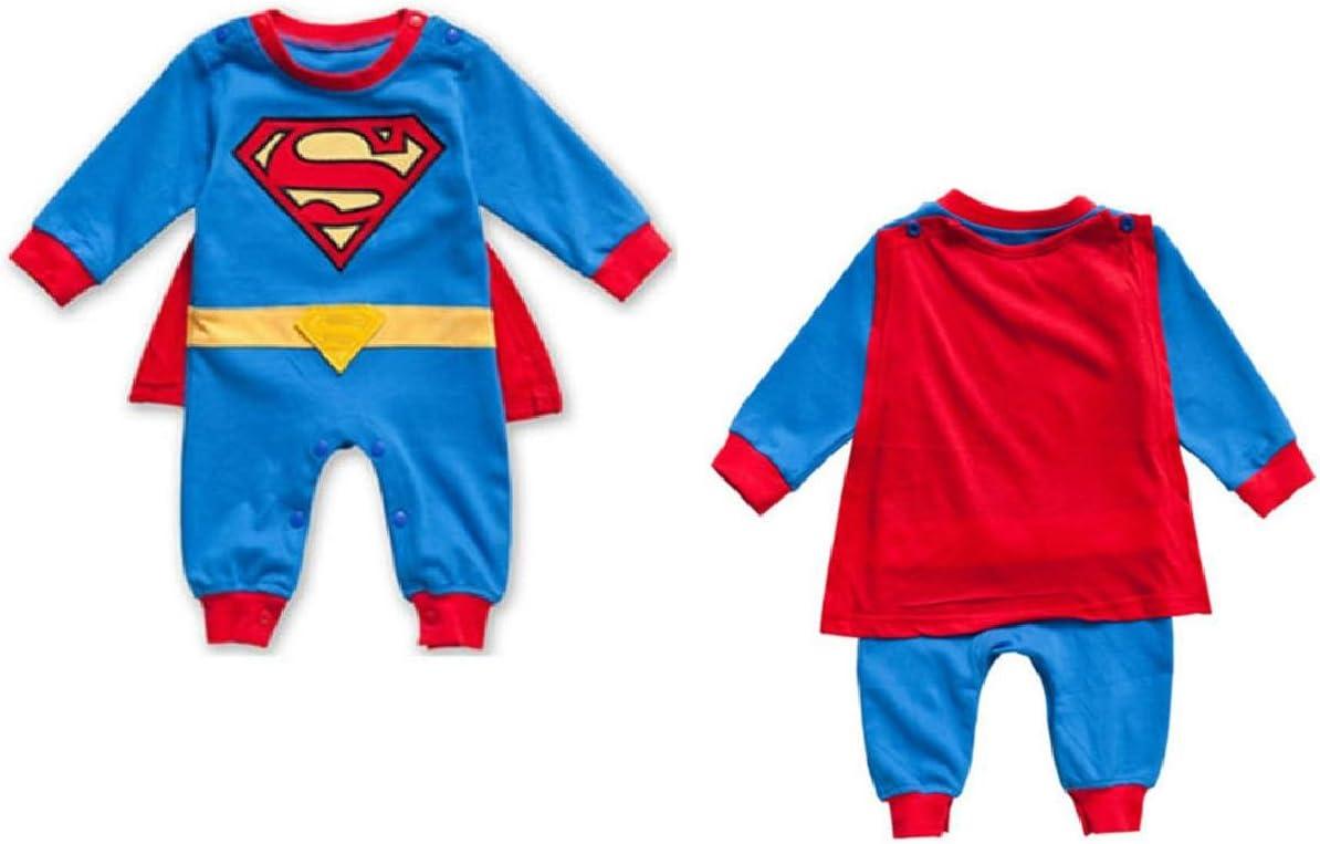 Mameluco de manga larga para bebé con diseño de Superman, disfraz ...