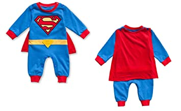 Baby boy Long sleeve superman romper superhero outfit fancy superman costume 3-18M (  sc 1 st  Amazon UK : baby boy superhero costumes  - Germanpascual.Com