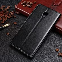 MEIZU MX 5 Leather Case, Solid Color Stand Case with Wallet Function Flip Case Cover PU Leather Case for Meizu MX 5 ( Color : Black-MEIZU MX5 )
