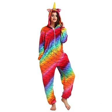 Misslight Unisex Pajamas Unicorn Animal Kigurumi Pajamas Unicorn Cosplay Costume Pajamas Sleeping Wear (Mermaid,