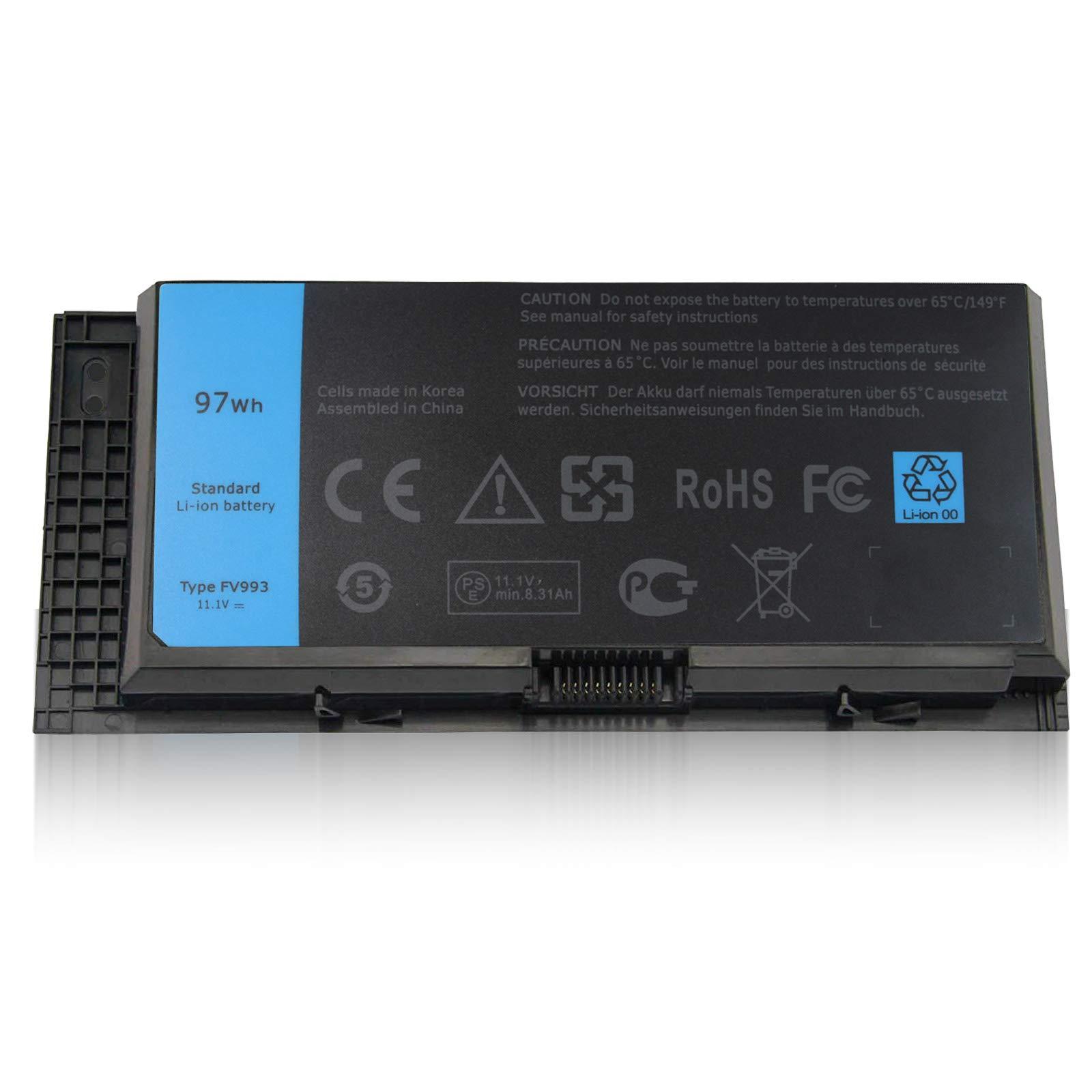 Bateria 97Wh para Dell Precision M4600 M4700 M4800 M6600 M6700 M6800 Series JHYP2 PG6RC V7M28 K4RDX 0K4RDX 12 !