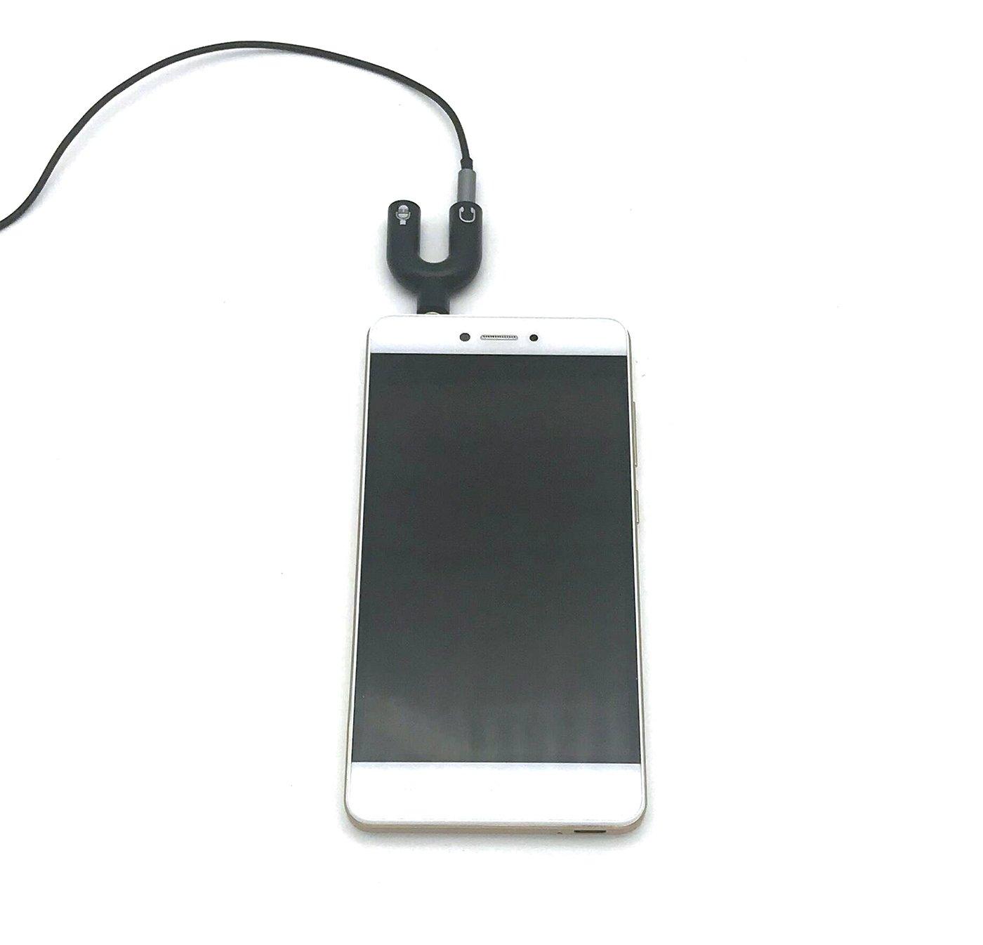 2 convertitori Vimmor per jack audio da  3,5/mm splitter a 2/vie a U per tutti i dispositivi con connettore jack da 3,5/mm nero e bianco