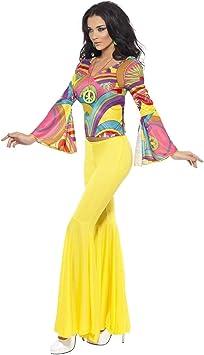 Smiffys Disfraz de Años 70 Psicodélico Mujer S: Amazon.es ...