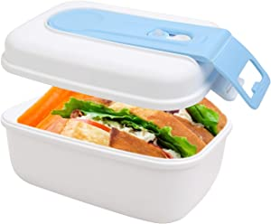 AZFUNN Lunch Boxes Vacuum Food Storage Container with BPA Free No Need an Pump for Kitchen or Salads Lunch Bento Boxes Stayed Fresh and Tasty, 660ml