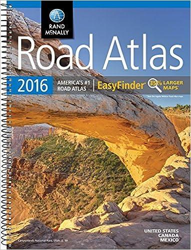 Rand McNally 2016 EasyFinder® Midsize Road Atlas (Rand Mcnally Road Atlas Midsize Easy Finder)