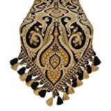 Austin Horn Classics Alexandria Luxury Table Runner 13 x 108 Design, Paisley, Abstract, Graphic