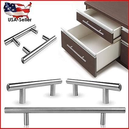 Stainless Steel T Bar Modern Kitchen Cabinet Hardwar Door