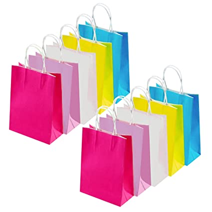 INTVN Bolsas Papel Kraft Multicolor - 25 Pcs Bolsas de Papel ...
