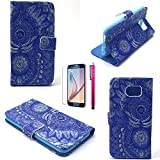 S5 Case, JCmax Beautiful Flower Pattern Premium PU Leather Pocket Case [Kickstand Feature] [Non-Slip] Ultra Fitted Slender Skin For Samsung Galaxy S5-SunFlower