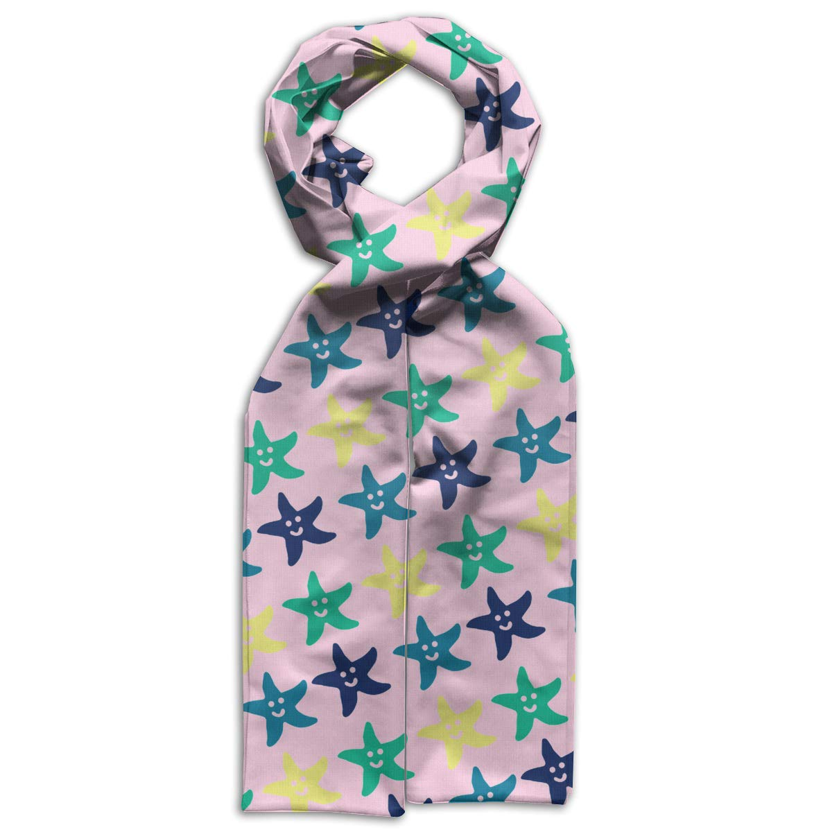 Color Starfish Kids Printed Scarf Comfortable Winter Infinity Scarf Warmer Travel Scarf For Kids Perfect Birthday Gift