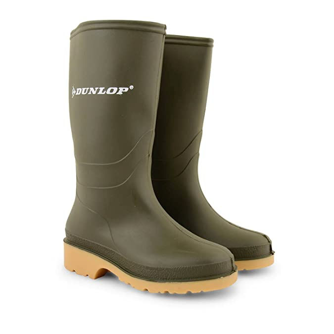 Boys Girls Childrens Kids Dunlop Wellington Boots Rubber Rain Snow Wellies  Shoes Green EU 29 Amazoncouk Shoes  Bags