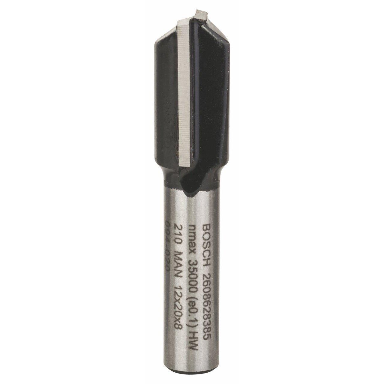 Bosch 2 608 628 385 - Fresas de ranurar - 8 mm, D1 12 mm, L 20 mm, G 51 mm (pack de 1) 2608628385
