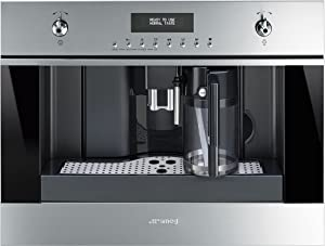 """Smeg CMSU6451X 24"""" Built In Fully Automatic Coffee Machine with Milk Frother, Stainless Steel"""
