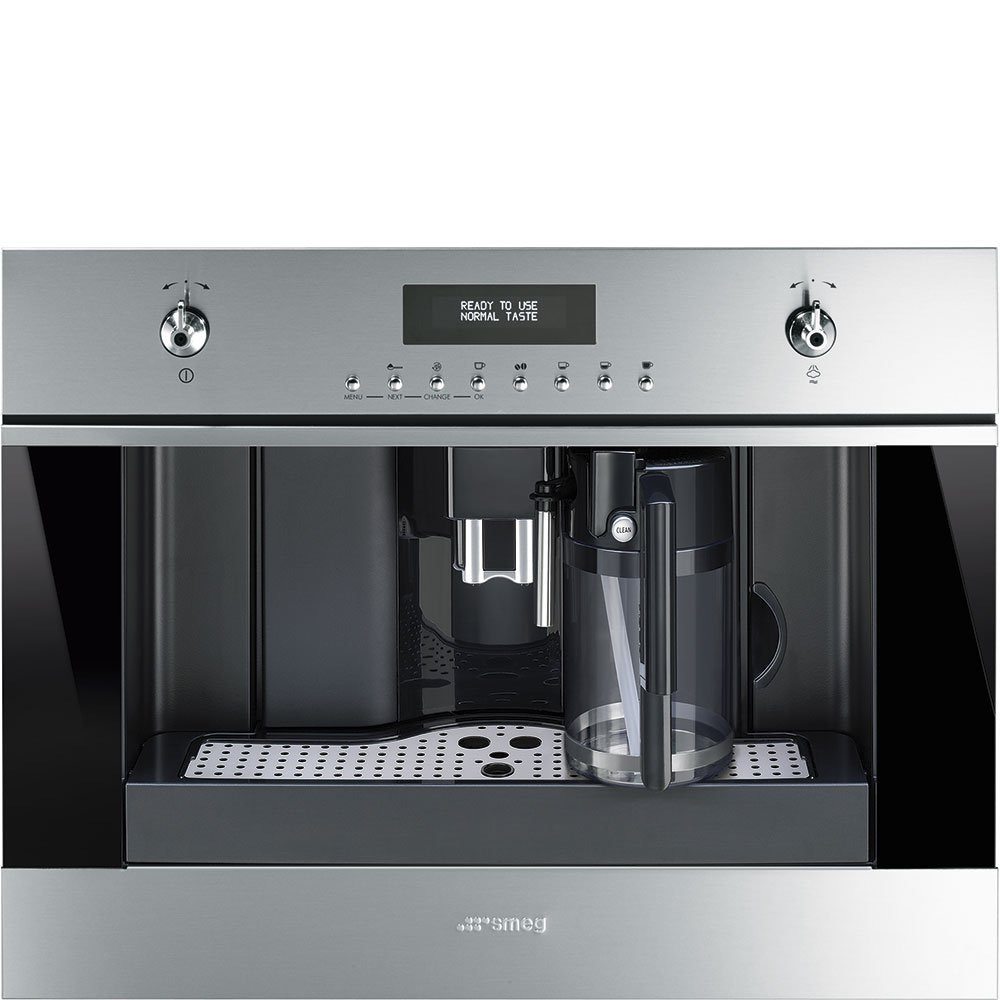Smeg CMSU6451X 24'' Built In Fully Automatic Coffee Machine with Milk Frother, Stainless Steel
