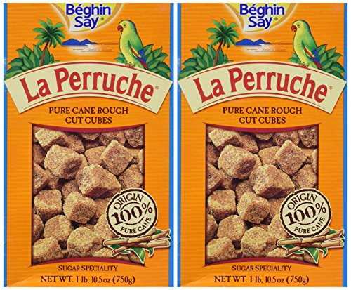 La Perruche Brown Sugar Cubes, 1LB,10 1/2 OZ PK OF - Pure Cane Cubes Sugar