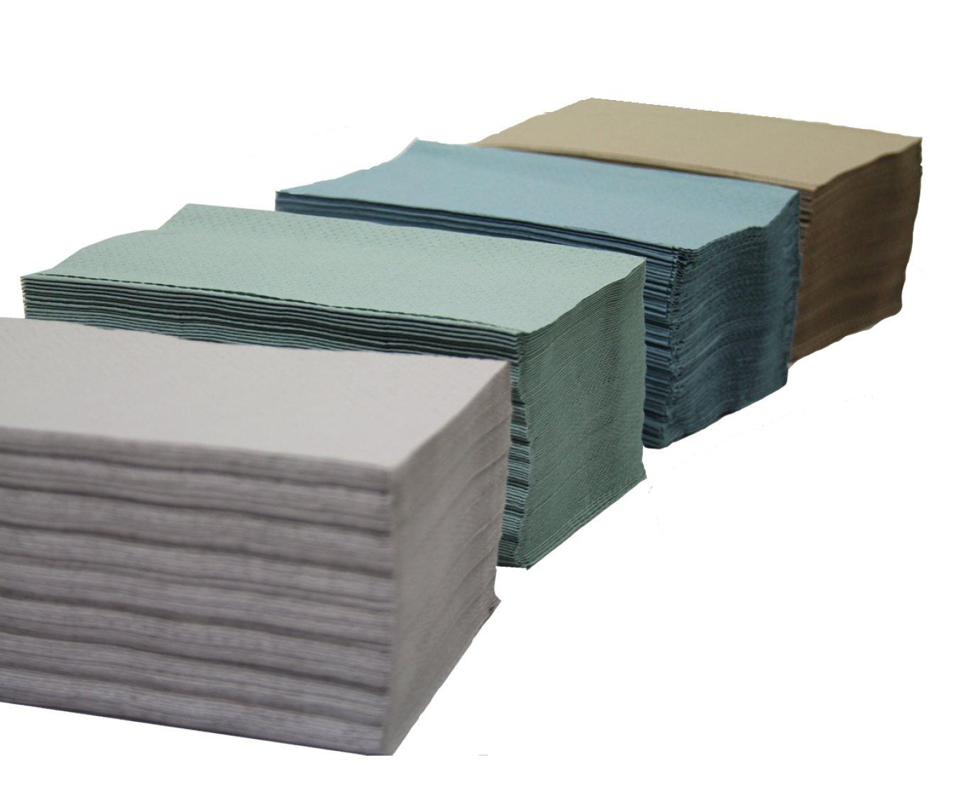 gofrada 21x24 Saten Toalla de Papel de Mano 1 Capa plegada en V 20 Paquetes de 200 Unidades Blanca Celulosa Reciclada