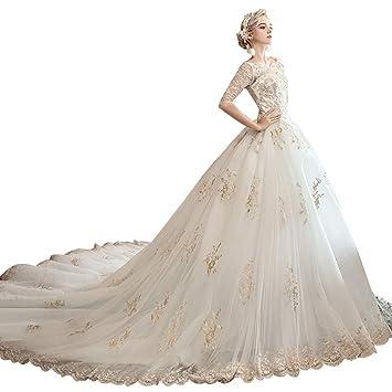 buy cheap united kingdom speical offer Robe de mariée Longue Paragraphe Simple col Rond Robe de ...
