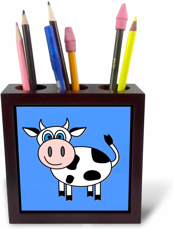 3dRose ph/_6083/_1 Happy Cow Boy Tile Pen Holder 5-Inch