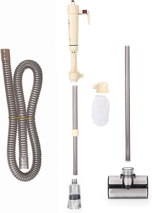 Aspiradora con sifón eléctrico limpiador de grava, con filtro y bomba de agua para acuarios, no incluye baterías: Amazon.es: Productos para mascotas