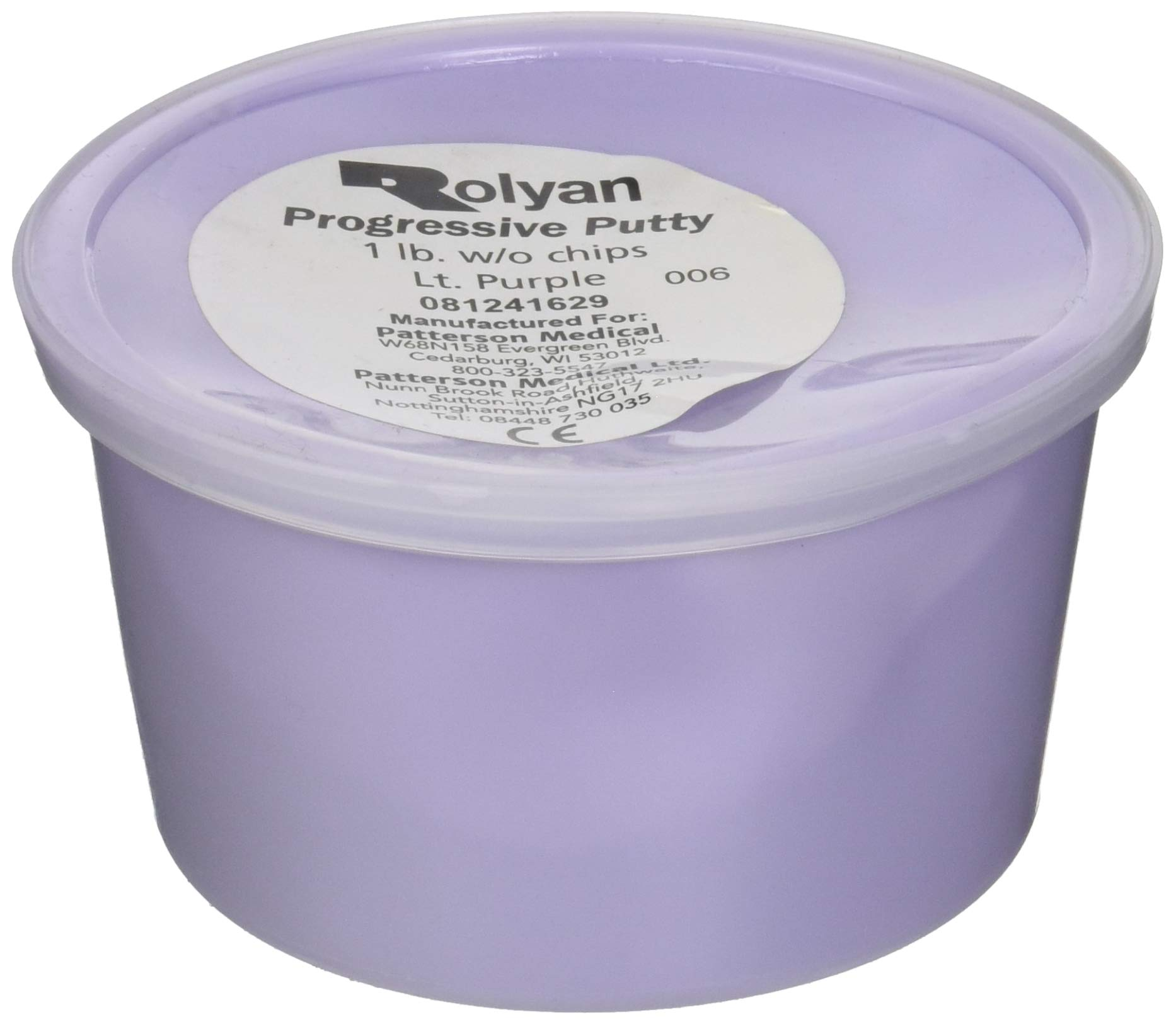Sammons Preston Progressive Putty for Physical Therapeutic Hand Exercises, Flexible Putty for Finger and Hand Recovery and Rehabilitation, Occupational Therapy, 1 Pound, Without Progress Chips