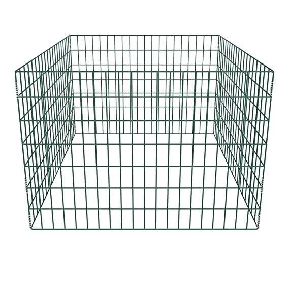 vidaXL Compostador Forma Jaula Mallado Cuadrado de Jardín Acero 100x100x70 cm