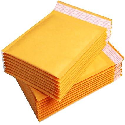 nulala 10Pack Kraft Bubble Bags Sobres Acolchados Sobres de Papel Bolsas de Correo para envío, Correo, Embalaje (M)