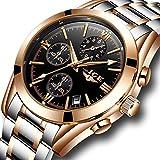 Watches Men Full Steel Waterproof Analog Quartz Watch Men's Luxury Brand LIGE Sports Business Wristwatch