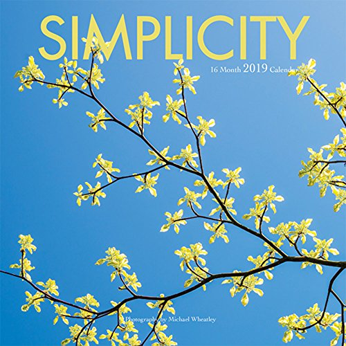 Simplicity 2019 7 x 7 Inch Monthly Mini Wall Calendar by Wyman, Colorful Photography Inspiration Quotes