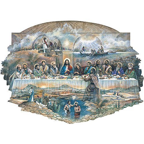 0 Piece Shaped Jigsaw Puzzle for Adults - The Last Supper - 300 pc Religious Jigsaw by Artist Ruane Manning ()