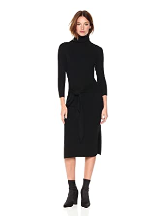 Amazon.com: Cable Stitch Women's Turtleneck Ribbed Sweater Dress ...