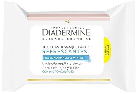 Diadermine - Toallitas Desmaquillantes Refrescantes (pack de 6)