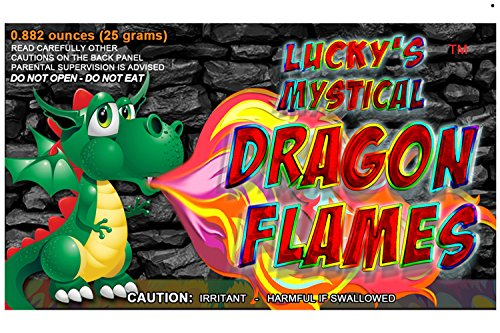 Mystical Fire Dragon Flames Flame Colorant Vibrant Long-Lasting Pulsating Flame Color Changer for Indoor or Outdoor Use 0.882 oz Packets 12 Pack (Mystical Flame)