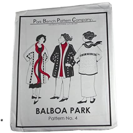 Amazon Com Park Bench Pattern Company Sewing Pattern 4 Balboa Park