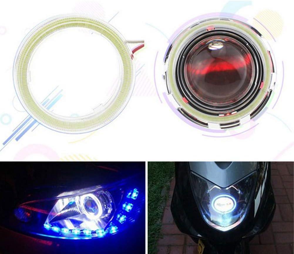 60mm-120mm Car Vehicle Universal COB Ange-l EY-e LED Lampada per Fari Anulari Angel Eyes LED Light