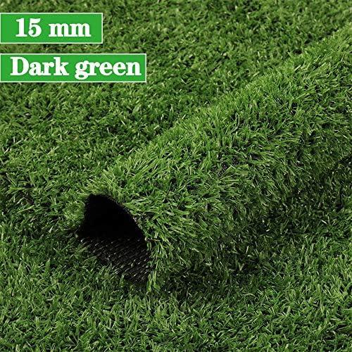 GAPING 人工芝人工芝壁カーペット風景装飾ペット好き非毒性環境保護身長15 Mm 2色 (Color : Dark green, Size : 2x3m)