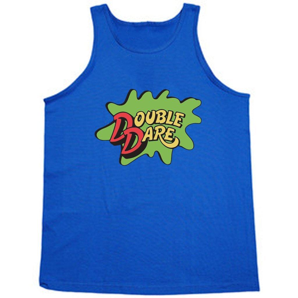 ブルーDouble DareロゴNickelodeonタンクトップ B01GNIFGT2 Adult Large|ブルー ブルー Adult Large